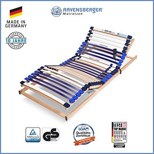 Ravensberger Matratzen® MEDI XXL® 5-Zonen-30-Leisten-BUCHE- Schwergewichtsrahmen | Elektrisch | Made IN Germany - 10 Jahre GARANTIE | TÜV/GS - Zertifiziert
