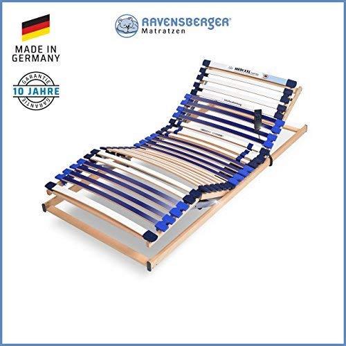 Ravensberger Matratzen® MEDI XXL® Lattenrost | 5-Zonen-Buche-Schwergewichts-Lattenrahmen | 30 Leisten| Elektrisch| Made IN Germany - 10 Jahre GARANTIE | TÜV/GS