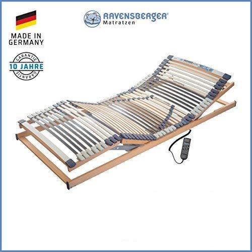 Ravensberger Matratzen® MEDIMED® Lattenrost | 7-Zonen-Buche-Lattenrahmen | 44 Leisten| Elektrisch Kopf- und Fußteil Verstellbar | Made IN Germany - 10 Jahre GARANTIE | TÜV/GS