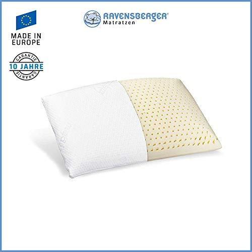Ravensberger Matratzen® Natur Latex-Kissen 50% Naturkautschuk| Made IN Europe - 3 Jahre Garantie | MEDICORE silverline…
