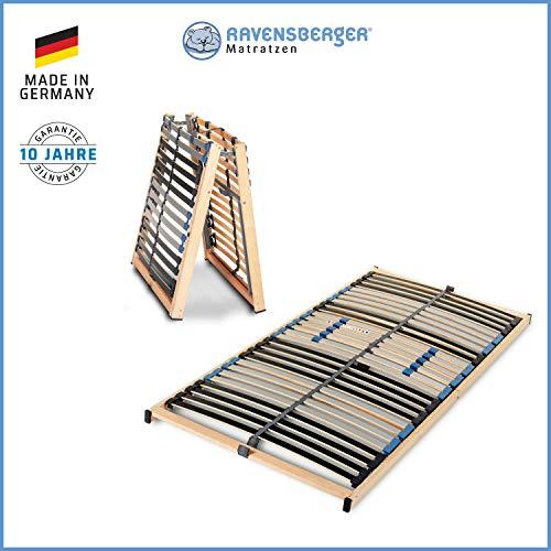 Ravensberger Matratzen Lattenrost Basis (Pura Med) VARIABEL Lattenrost | 7-Zonen-Birke-Lattenrahmen | 28 Leisten…
