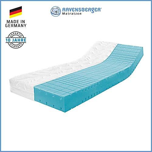 Ravensberger Matratzen® STRUKTURA-MED 60 | 7-Zonen Matratze HYLEX + HR Kaltschaummatratze H3 RG 60 (80-120 kg) | MADE IN…