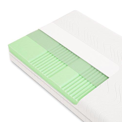 Schlummerparadies® hochwertige Matratze 7-Zonen HR-Kaltschaummatratze - Made in Germany - ca. 19cm Gesamthöhe, RG40…