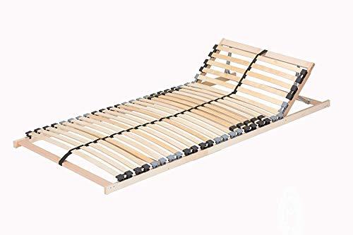TAURO 22914 7 Zonen Lattenrost, 90 x 200 cm, Geeignet für alle Matratzen, Kopfteil verstellbar, Komfort Lattenrost mit…