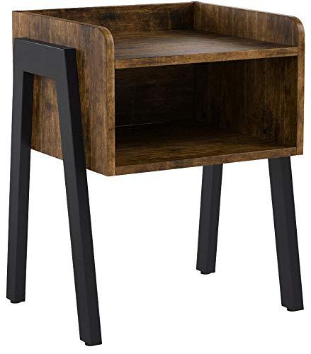 VASAGLE Nachttisch im Industrie-Design, Beistelltisch