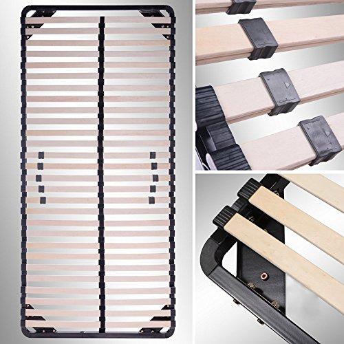 i-flair® Lattenrost 80x200 cm, Lattenrahmen - für alle Matratzen geeignet - alle Größen