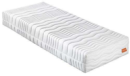 sleepling 7 -Zonen Kaltschaummatratze Wendematratze Bodyprotect 500 Duo Härtegrad 2 & 3 80 x 200 x 16 cm, weiß