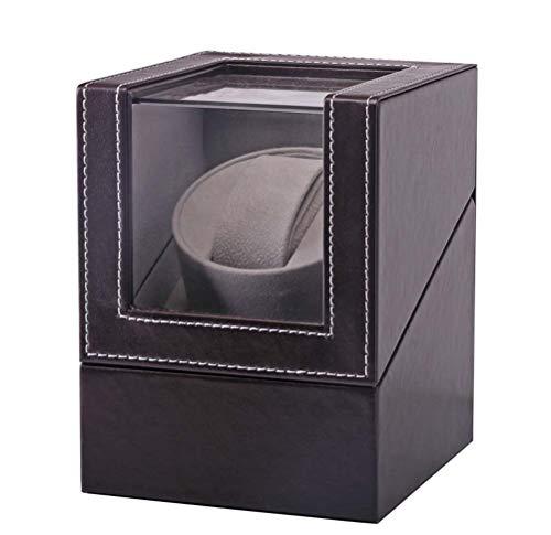 OSVINO Uhrenbeweger für Automatikuhren PU Leder 1 Uhr leise edel mit Glashütte, Braun