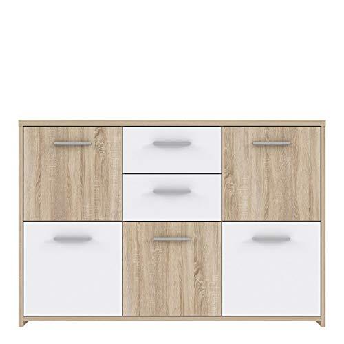 Sideboard Quadro - Sonoma Eiche-Weiß - 114 cm